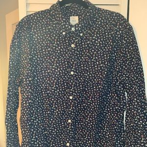 Gap Lived In floral button down shirt